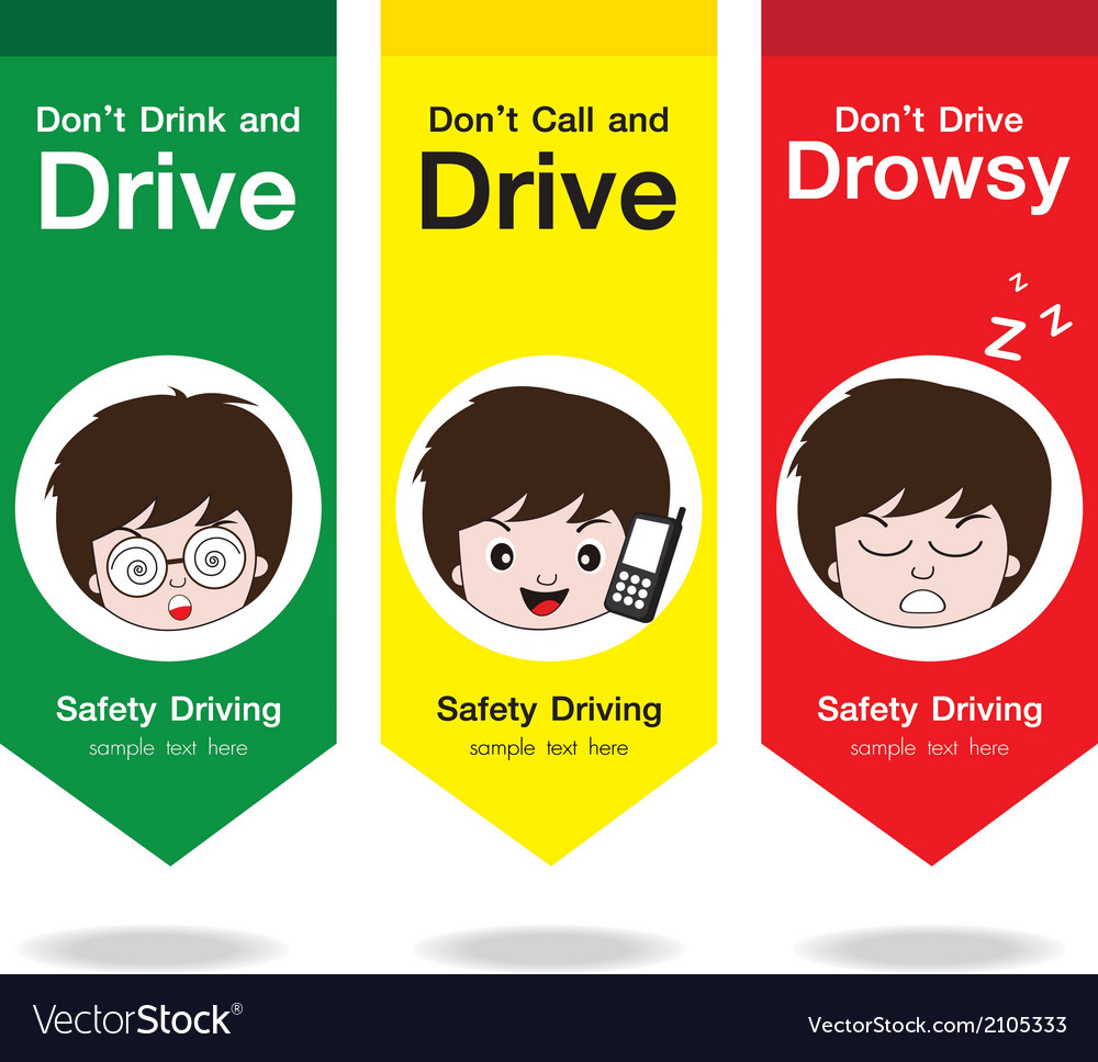 Safety drive flag vector | Price: 1 Credit (USD $1)