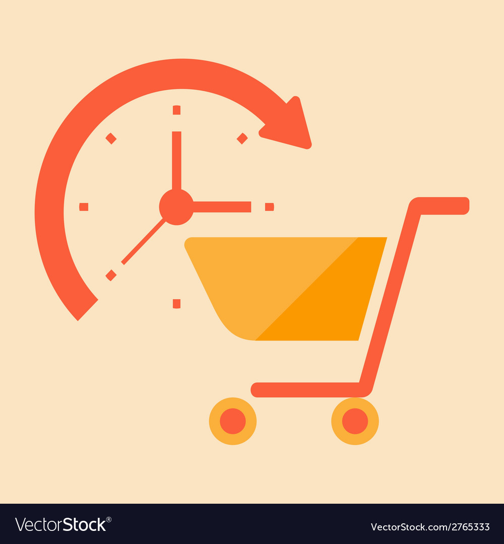Time for shopping vector | Price: 1 Credit (USD $1)