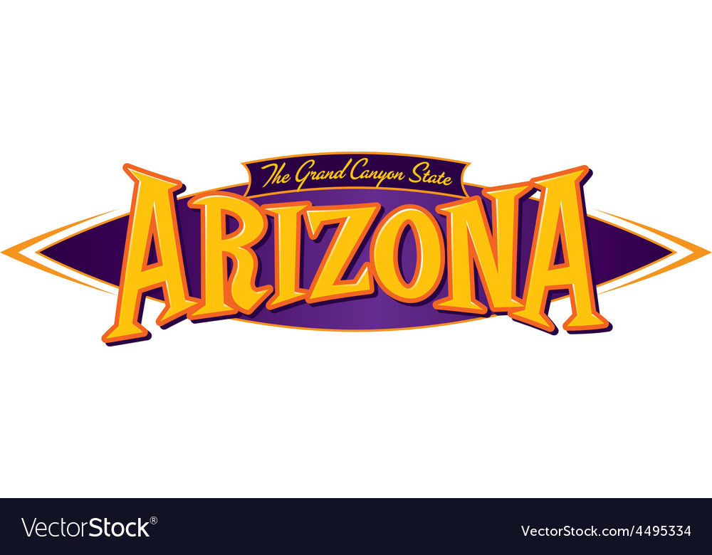 Arizona the grand canyon state vector | Price: 1 Credit (USD $1)