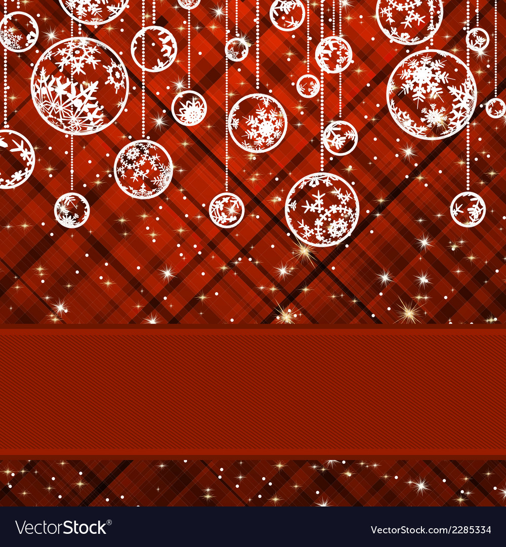 Christmas background with baubles eps 8 vector | Price: 1 Credit (USD $1)