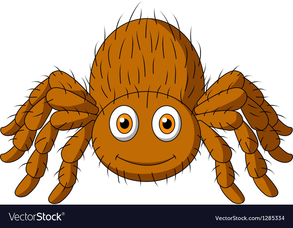 Cute tarantula spider cartoon vector | Price: 1 Credit (USD $1)