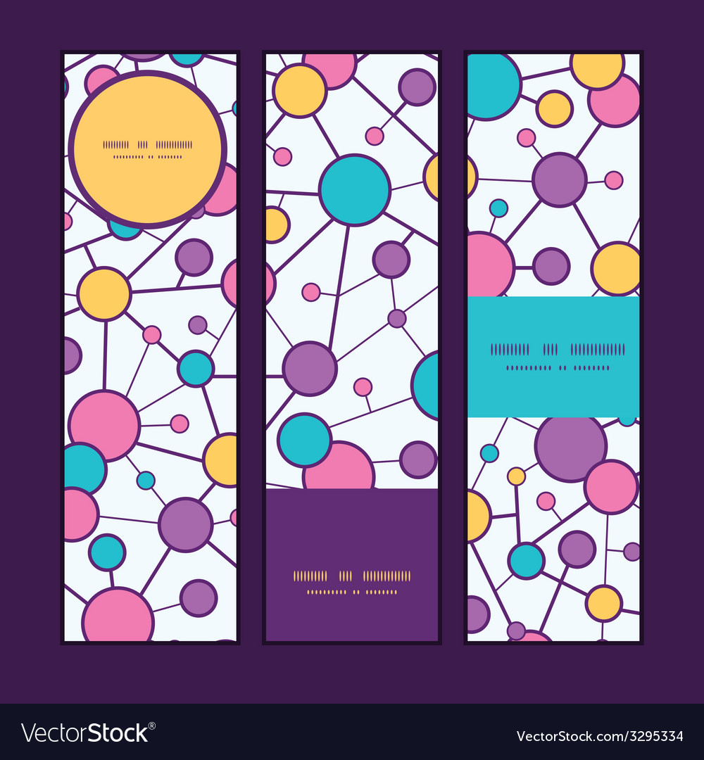 Molecular structure vertical banners set pattern vector | Price: 1 Credit (USD $1)