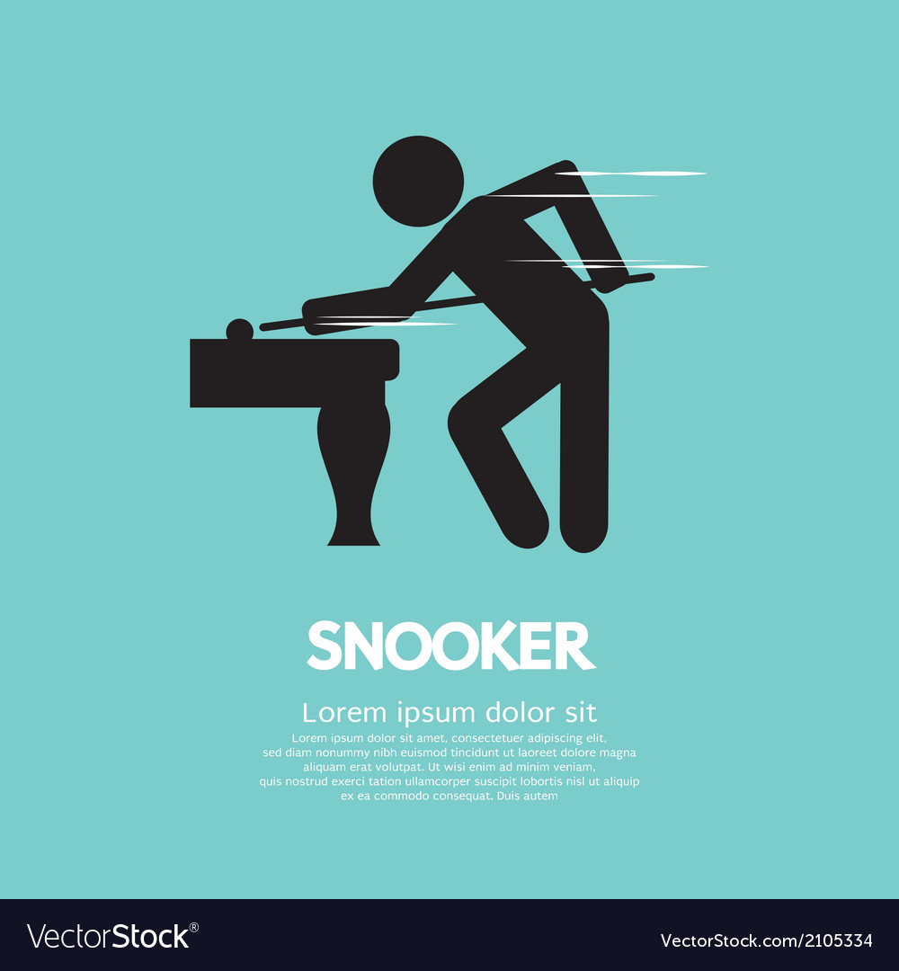 Snooker player vector | Price: 1 Credit (USD $1)
