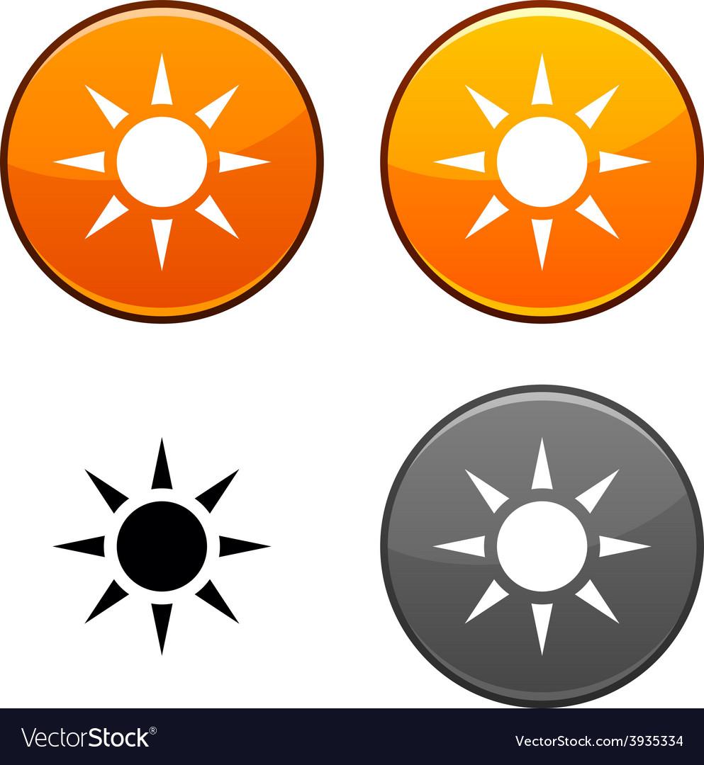 Sun button vector | Price: 1 Credit (USD $1)