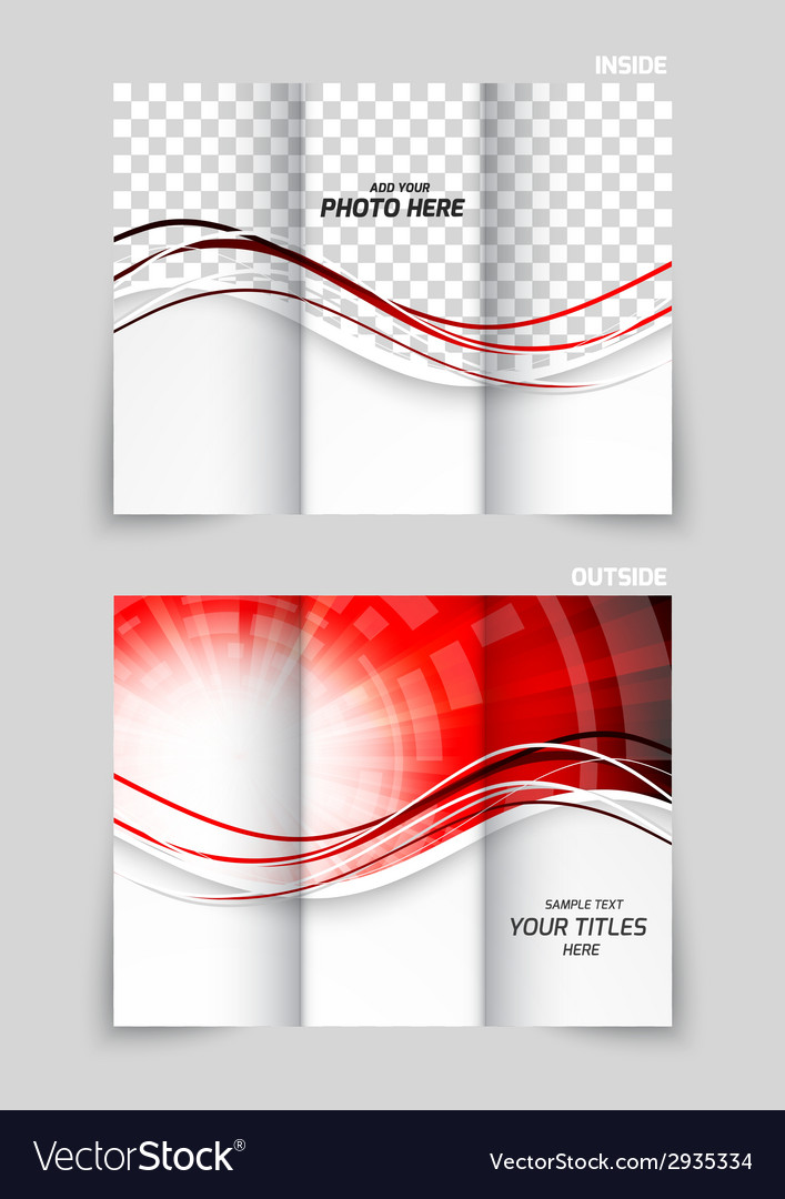Tri-fold brochure template design vector | Price: 1 Credit (USD $1)