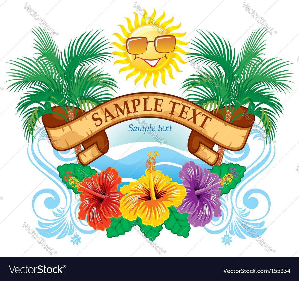 Tropical label vector | Price: 3 Credit (USD $3)