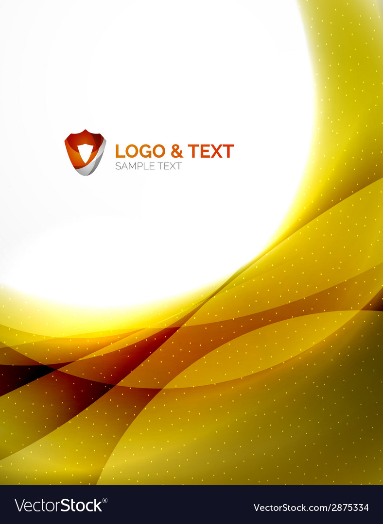 Yellow blur wave abstraction vector | Price: 1 Credit (USD $1)