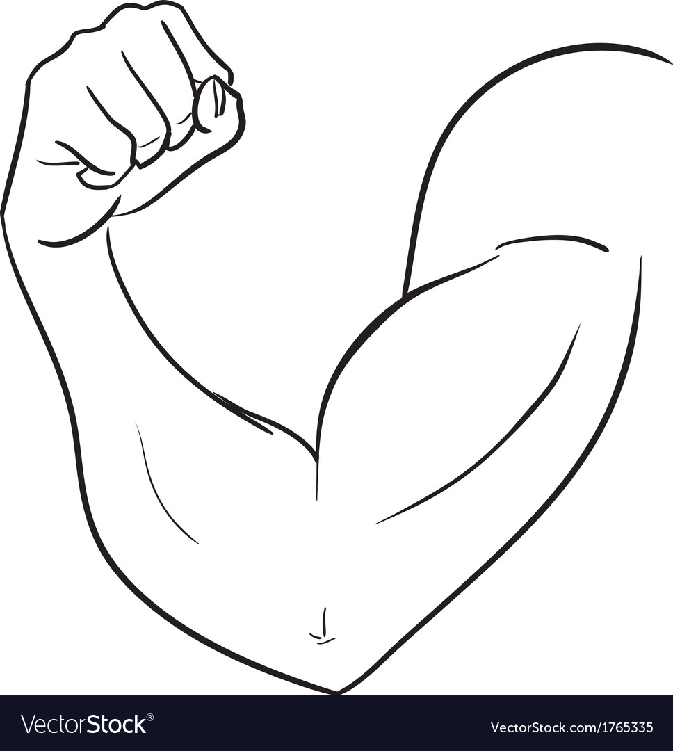 Biceps of strong man vector | Price: 1 Credit (USD $1)