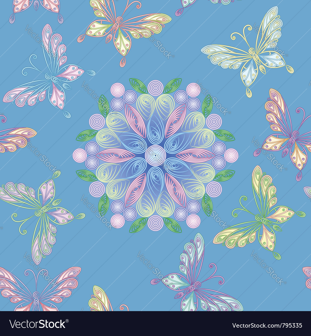 Elegant floral lace seamless vector   Price: 1 Credit (USD $1)