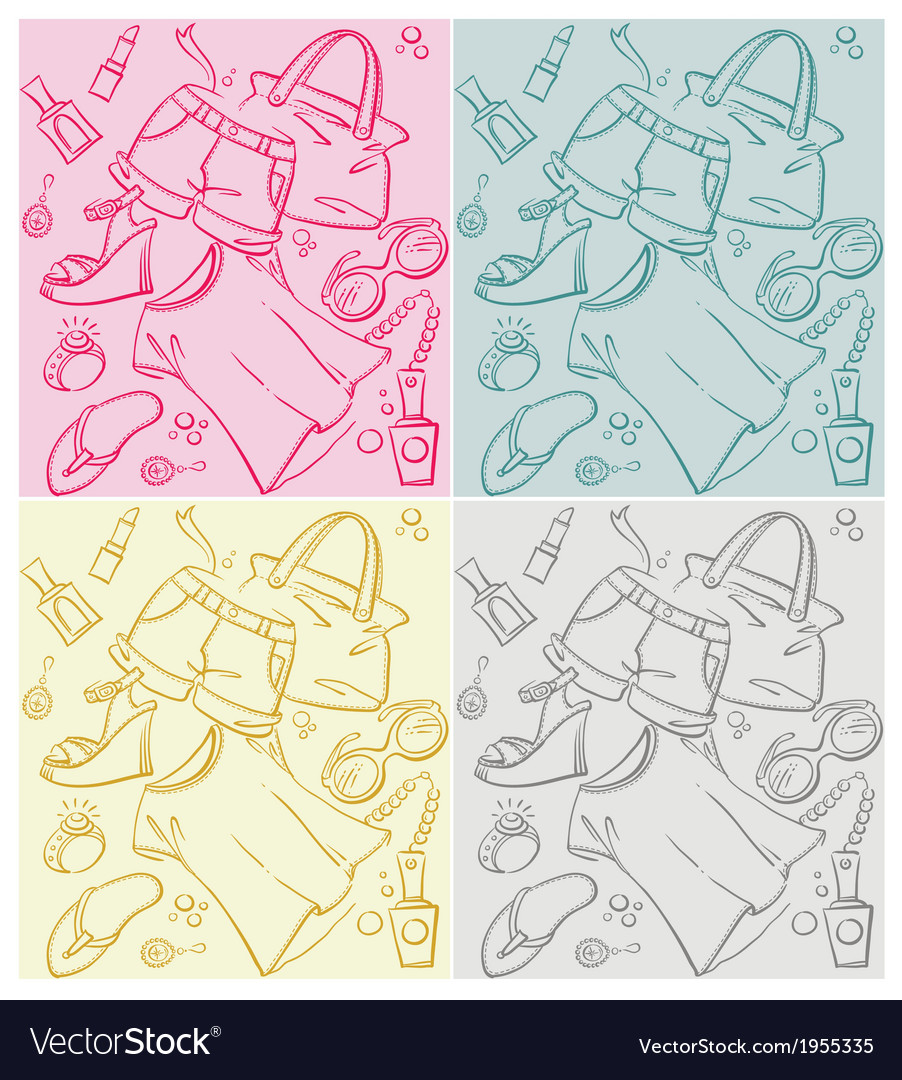Fashion pattern vector | Price: 1 Credit (USD $1)
