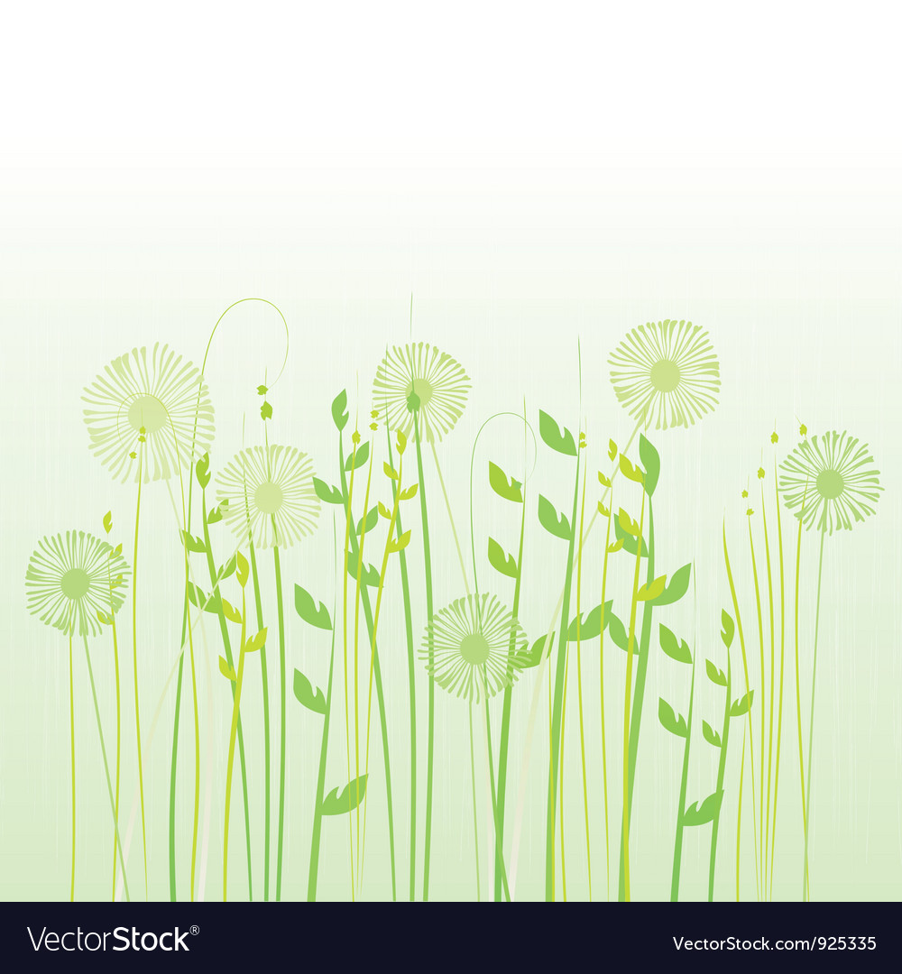 Floral background meadow vector | Price: 1 Credit (USD $1)