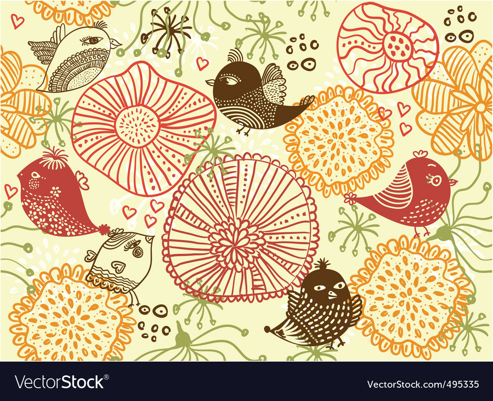 Garden sketch vector | Price: 1 Credit (USD $1)