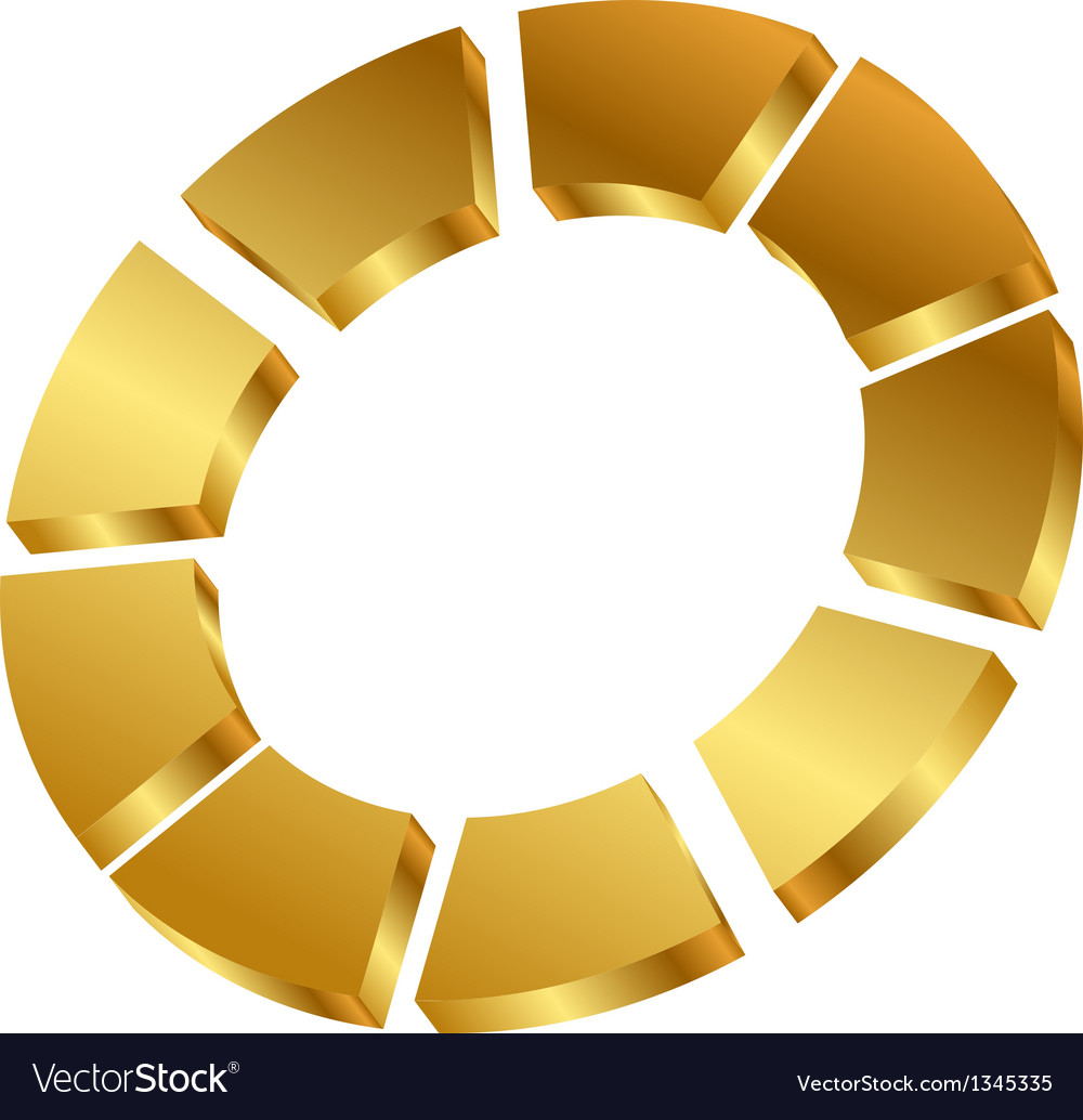 Gold cycle icon vector | Price: 1 Credit (USD $1)