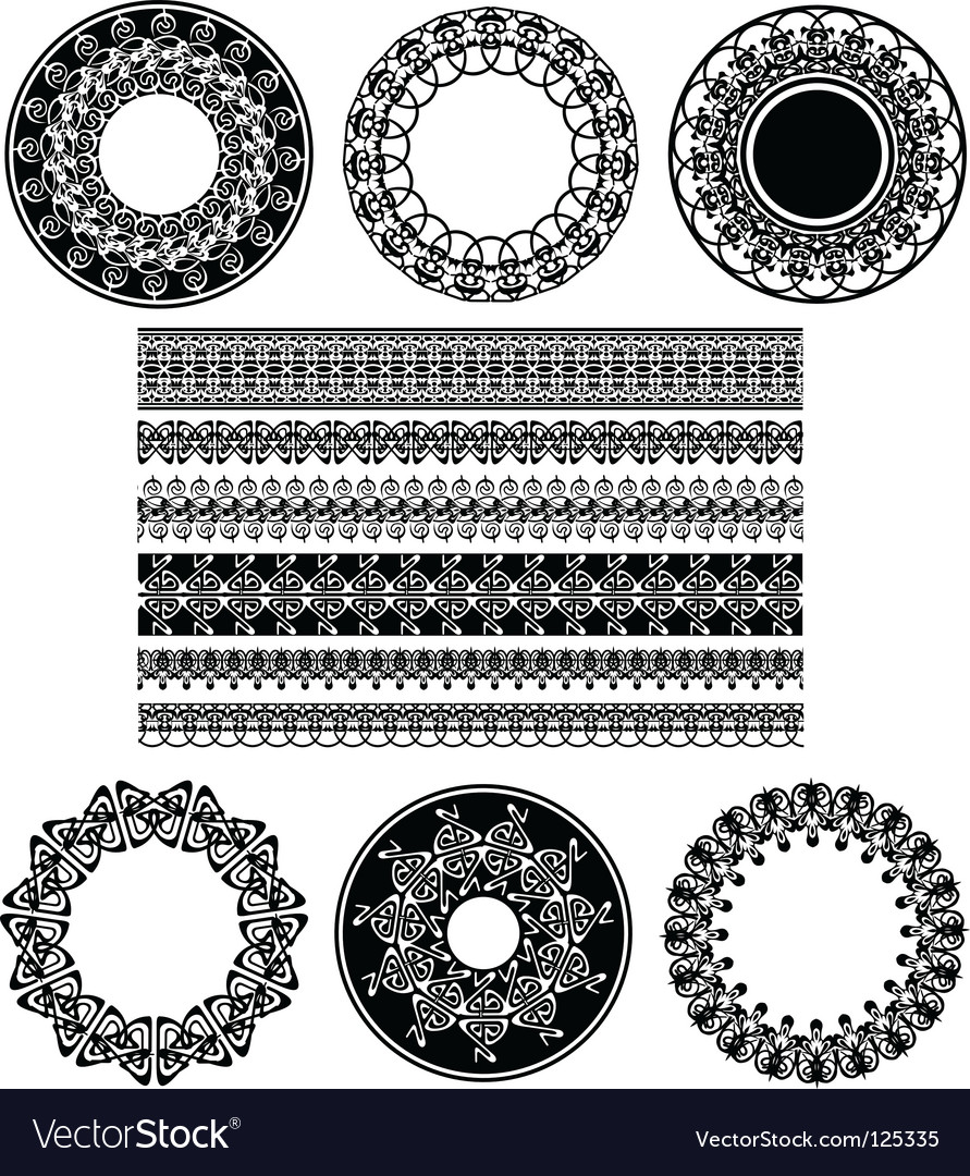 Lace border ornaments vector | Price: 1 Credit (USD $1)