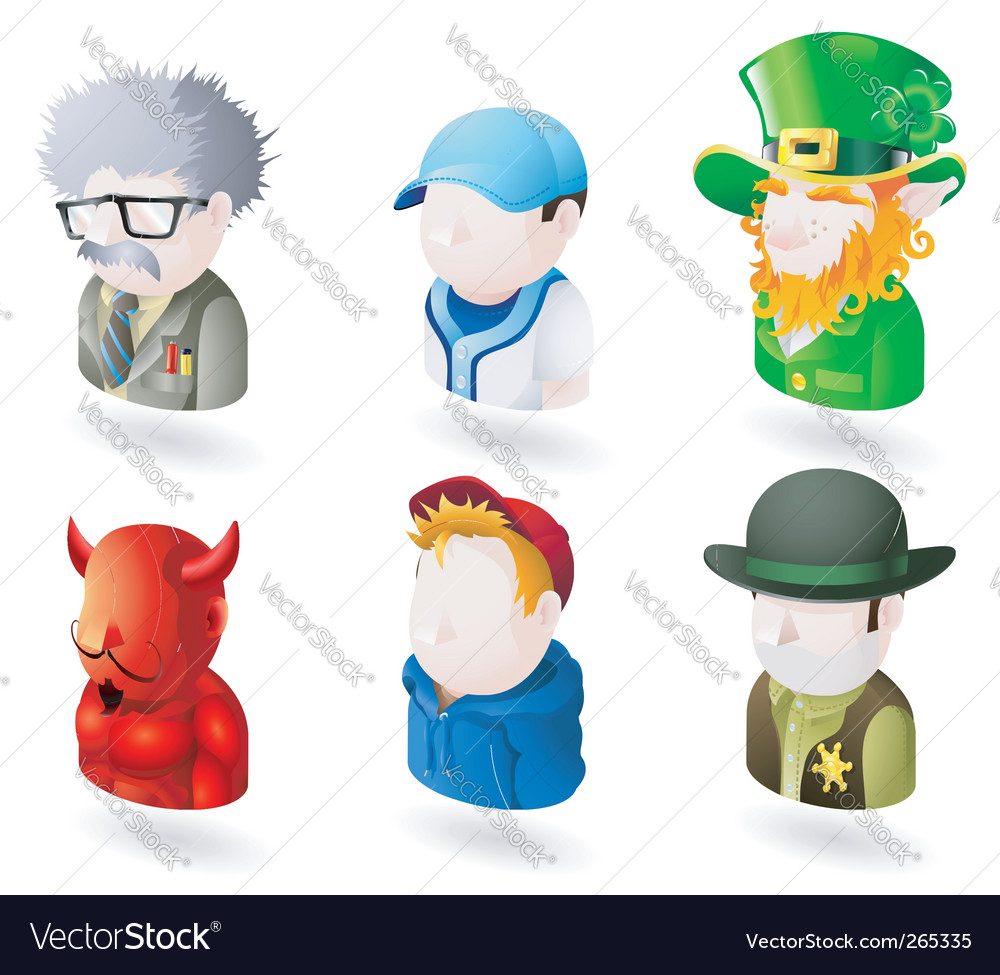 People icons vector | Price: 3 Credit (USD $3)