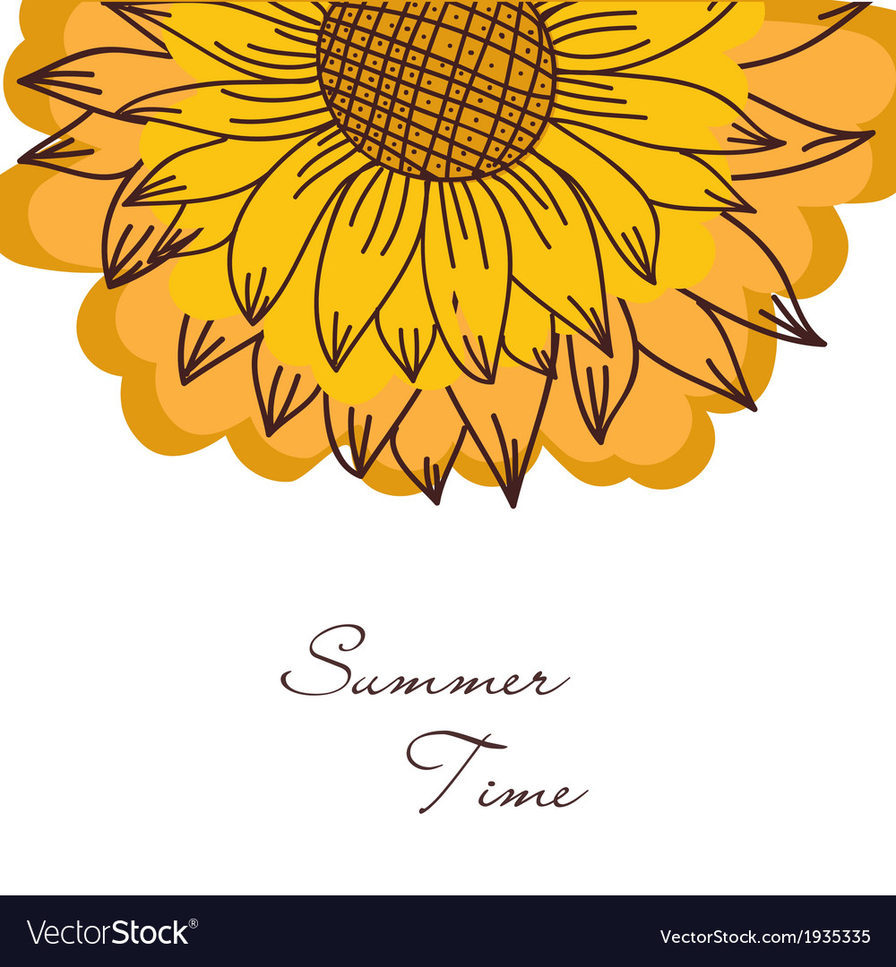 Vintage ornament with sunflowers vector | Price: 1 Credit (USD $1)