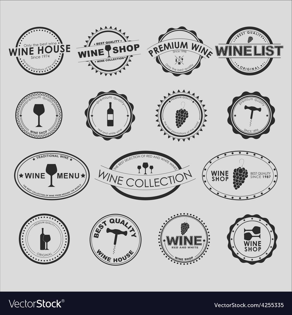 Wine logo 2 vector
