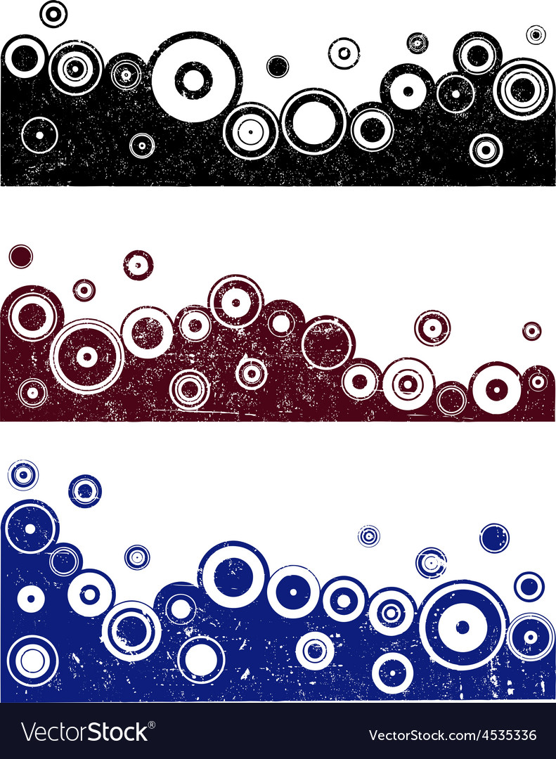 3 grunge border designs 1 vector | Price: 1 Credit (USD $1)