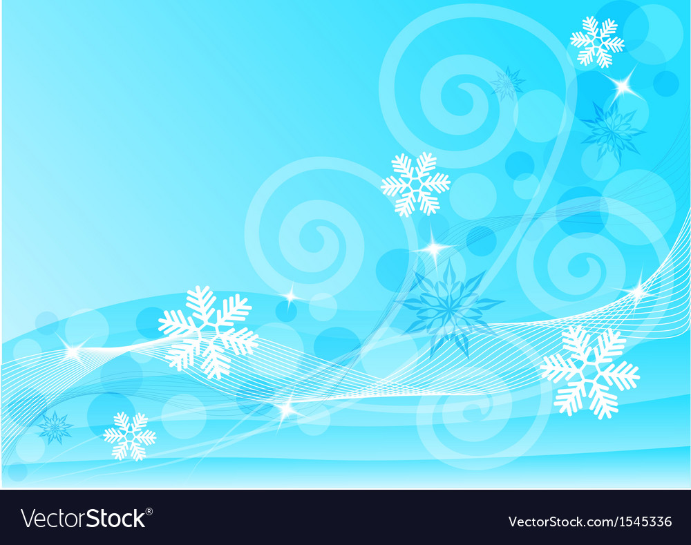 Abstract blue background with snowflakes vector | Price: 1 Credit (USD $1)