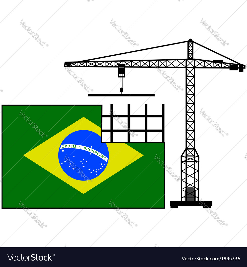 Brazil in construction vector | Price: 1 Credit (USD $1)