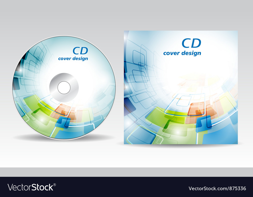 Cd cover design vector | Price: 1 Credit (USD $1)
