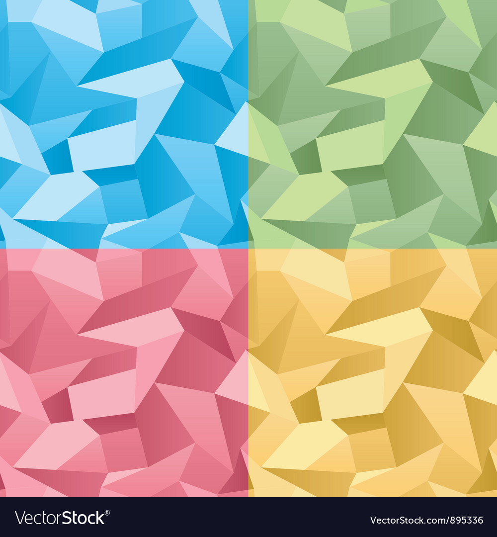 Colored seamless 3d crumpled background vector | Price: 1 Credit (USD $1)