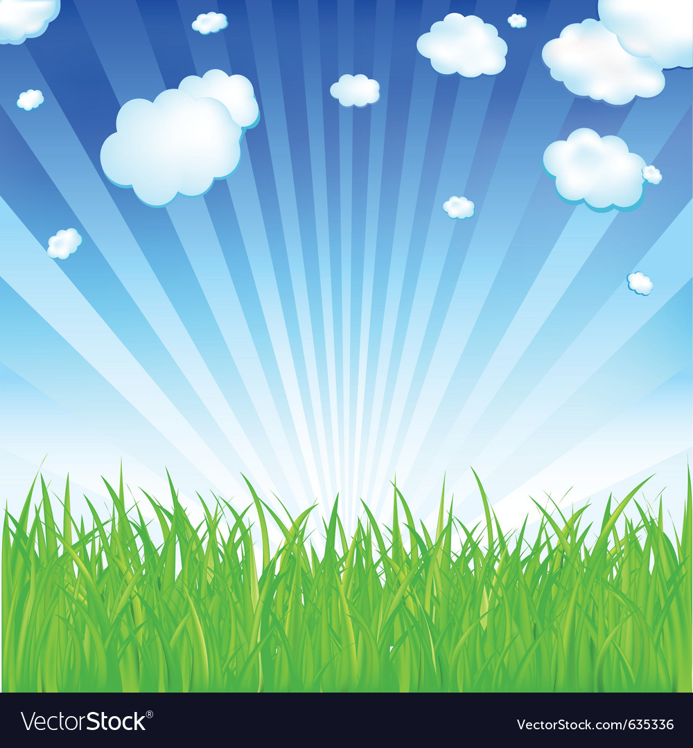 Fresh spring grass vector | Price: 1 Credit (USD $1)