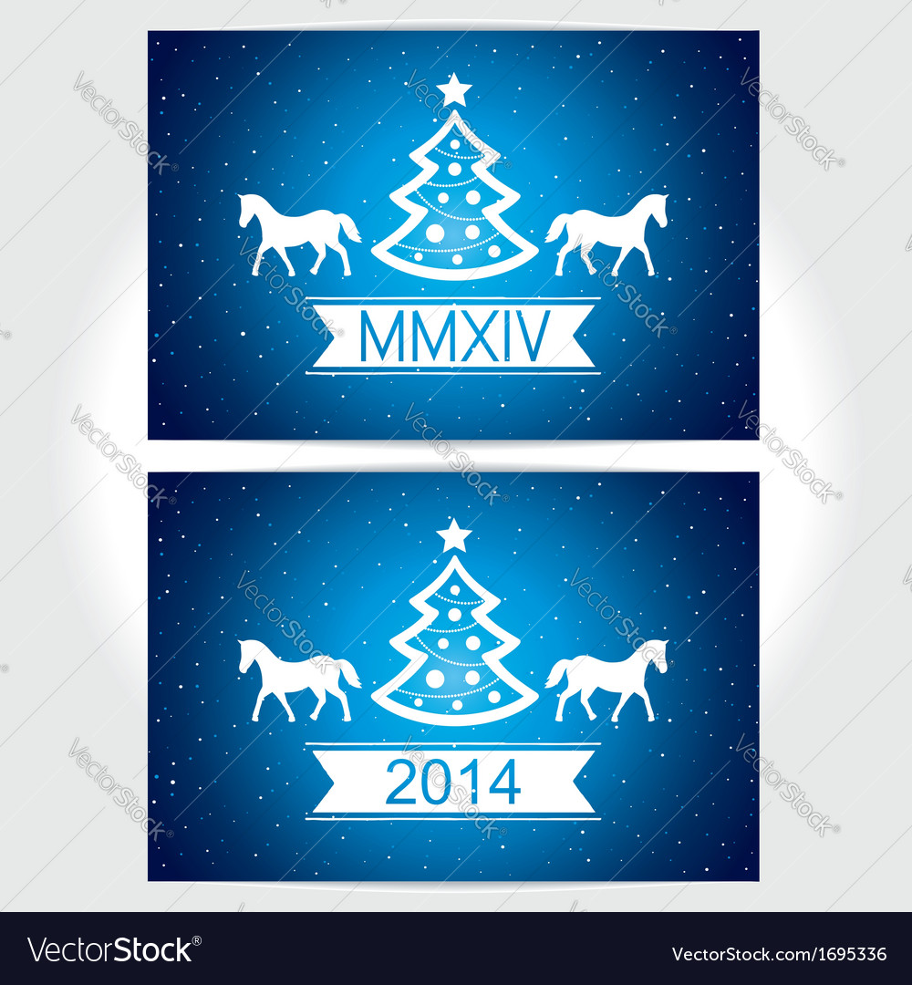 Happy christmas eve blue background with symbol co vector | Price: 1 Credit (USD $1)
