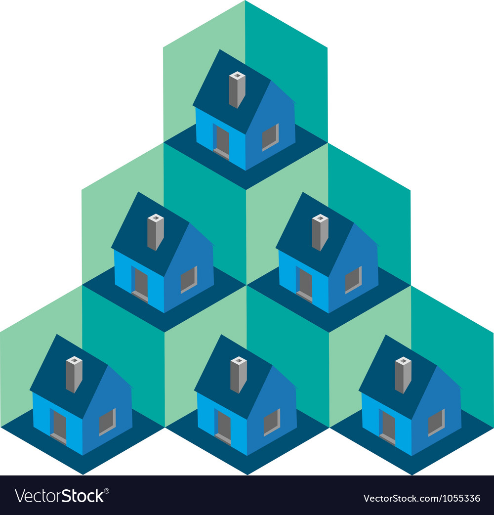 Isometric house pattern vector   Price: 1 Credit (USD $1)
