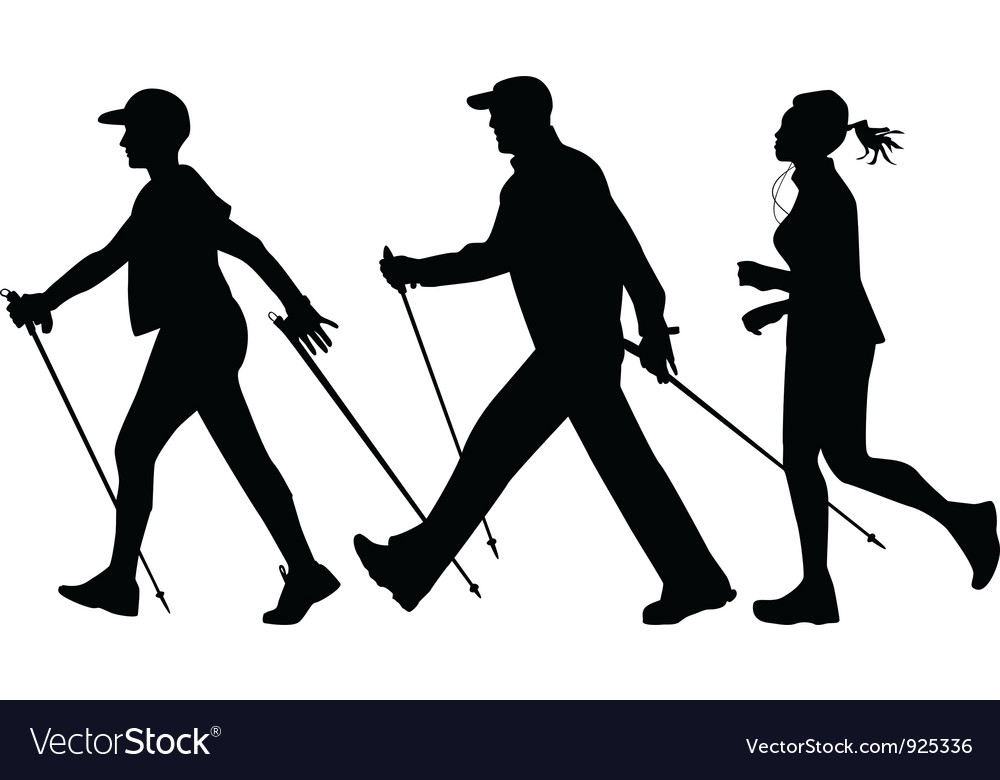Nordic walking and jogging vector | Price: 1 Credit (USD $1)