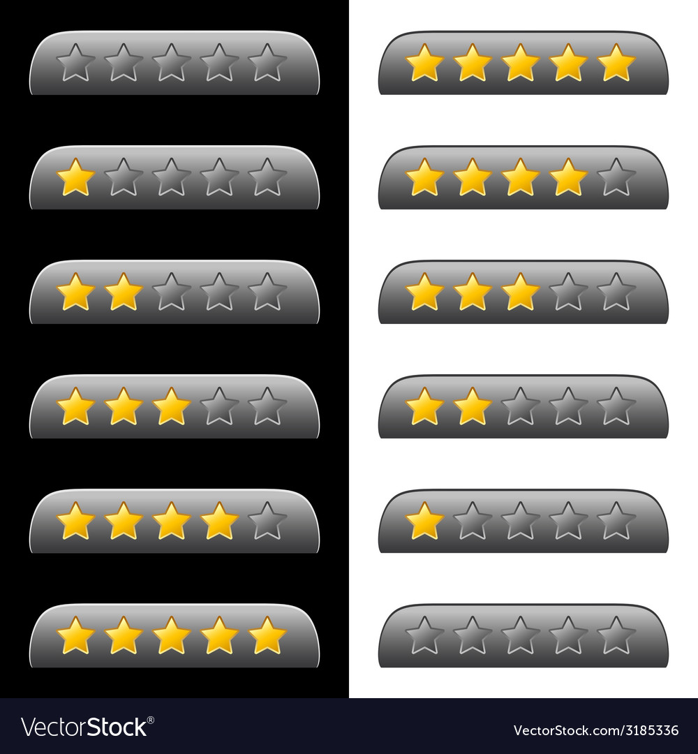 Rating stars for web vector | Price: 1 Credit (USD $1)