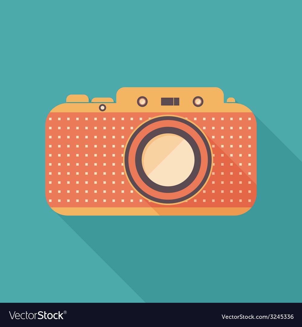 Retro camera icon vector | Price: 1 Credit (USD $1)