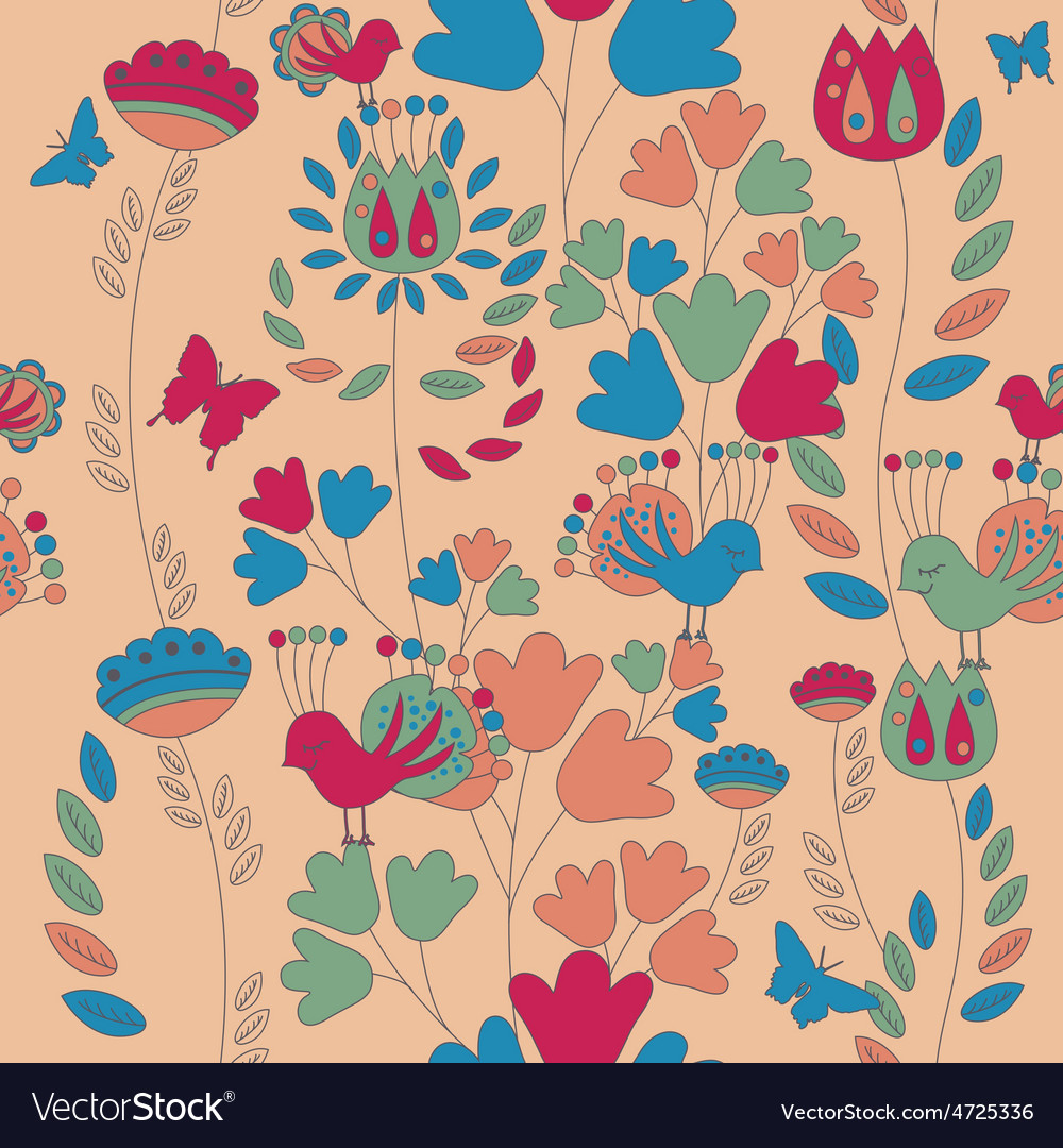Seamless romantic pattern and background vector | Price: 1 Credit (USD $1)