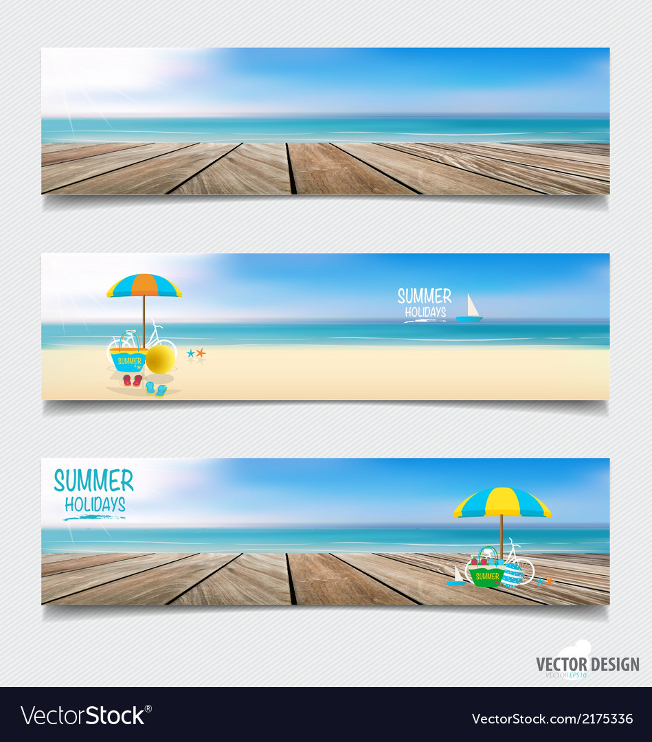 Summer holiday background on note paper vector | Price: 1 Credit (USD $1)