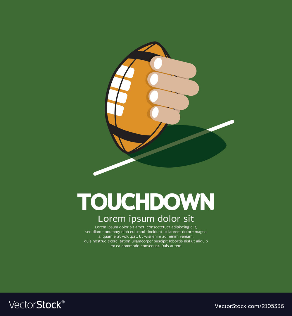 Touch down american football vector | Price: 1 Credit (USD $1)