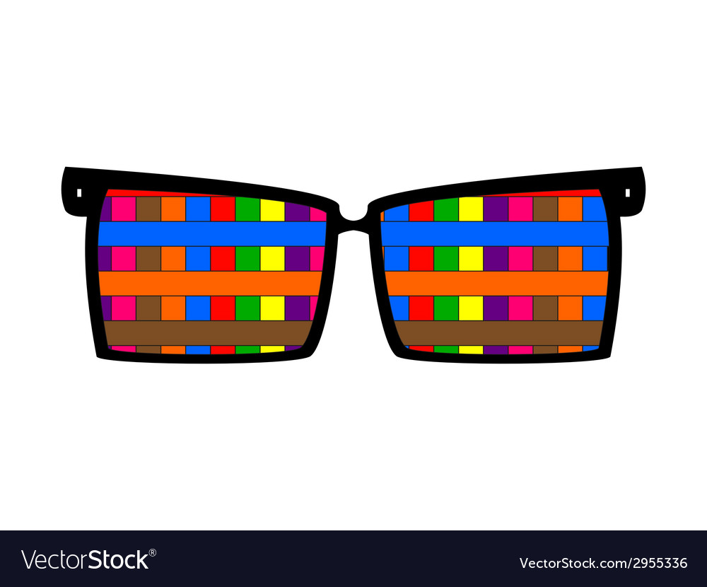 Vintage colored glasses for eyes vector | Price: 1 Credit (USD $1)