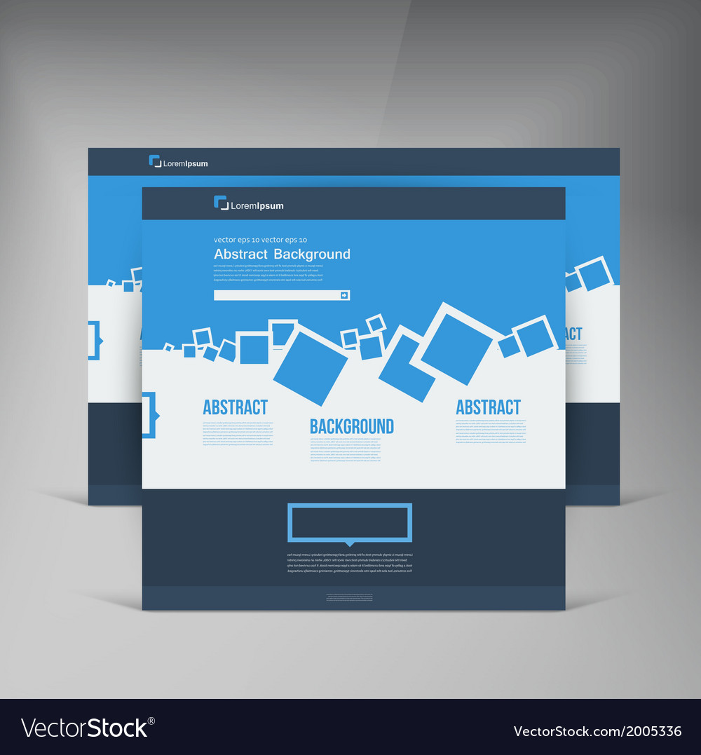 Website abstract blue brochure squares vector | Price: 1 Credit (USD $1)