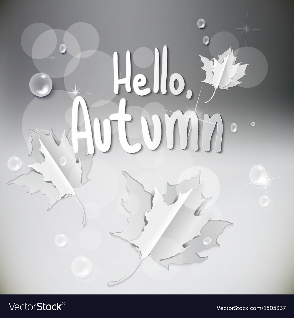 Autumn abstract nature background vector | Price: 1 Credit (USD $1)