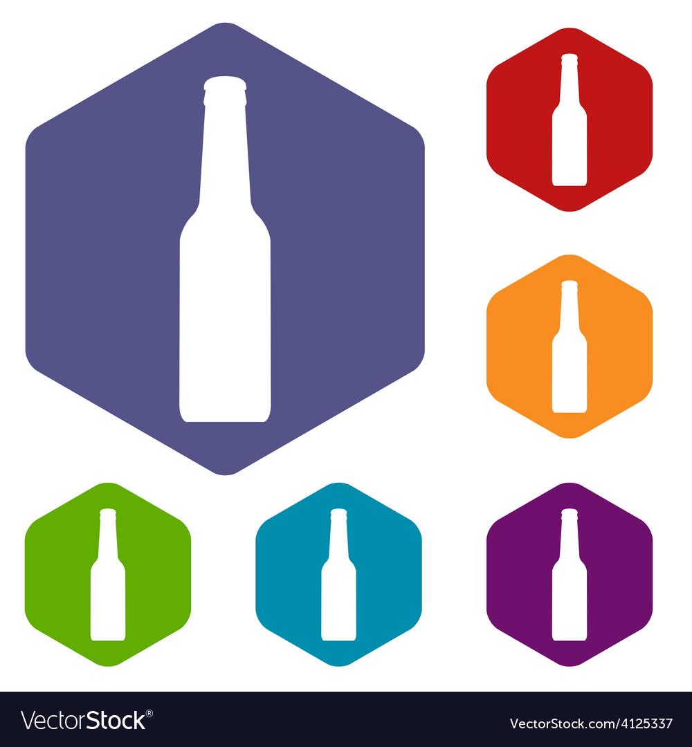 Bottle rhombus icons vector | Price: 1 Credit (USD $1)