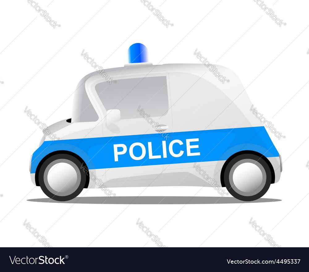 Cartoon police car vector | Price: 1 Credit (USD $1)