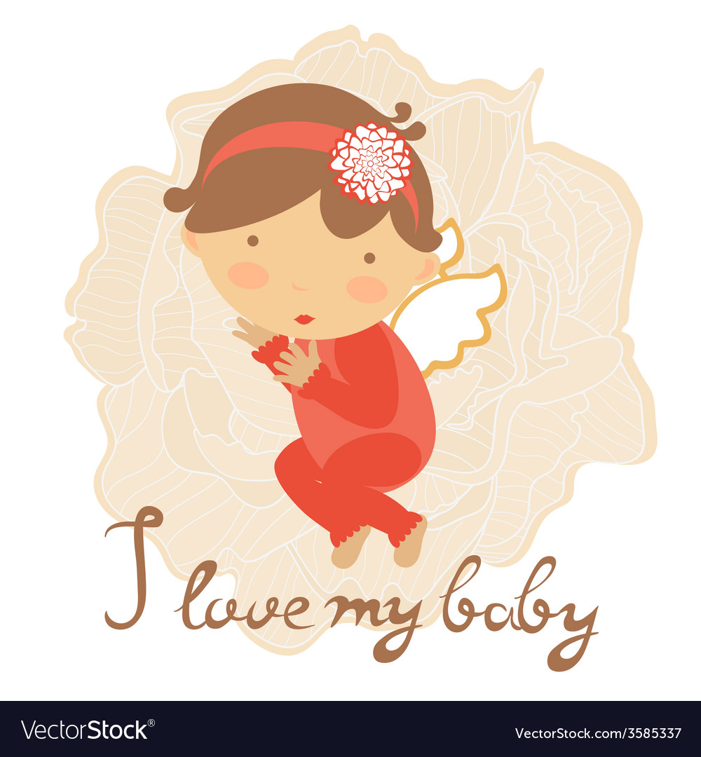 Cute baby card vector | Price: 1 Credit (USD $1)