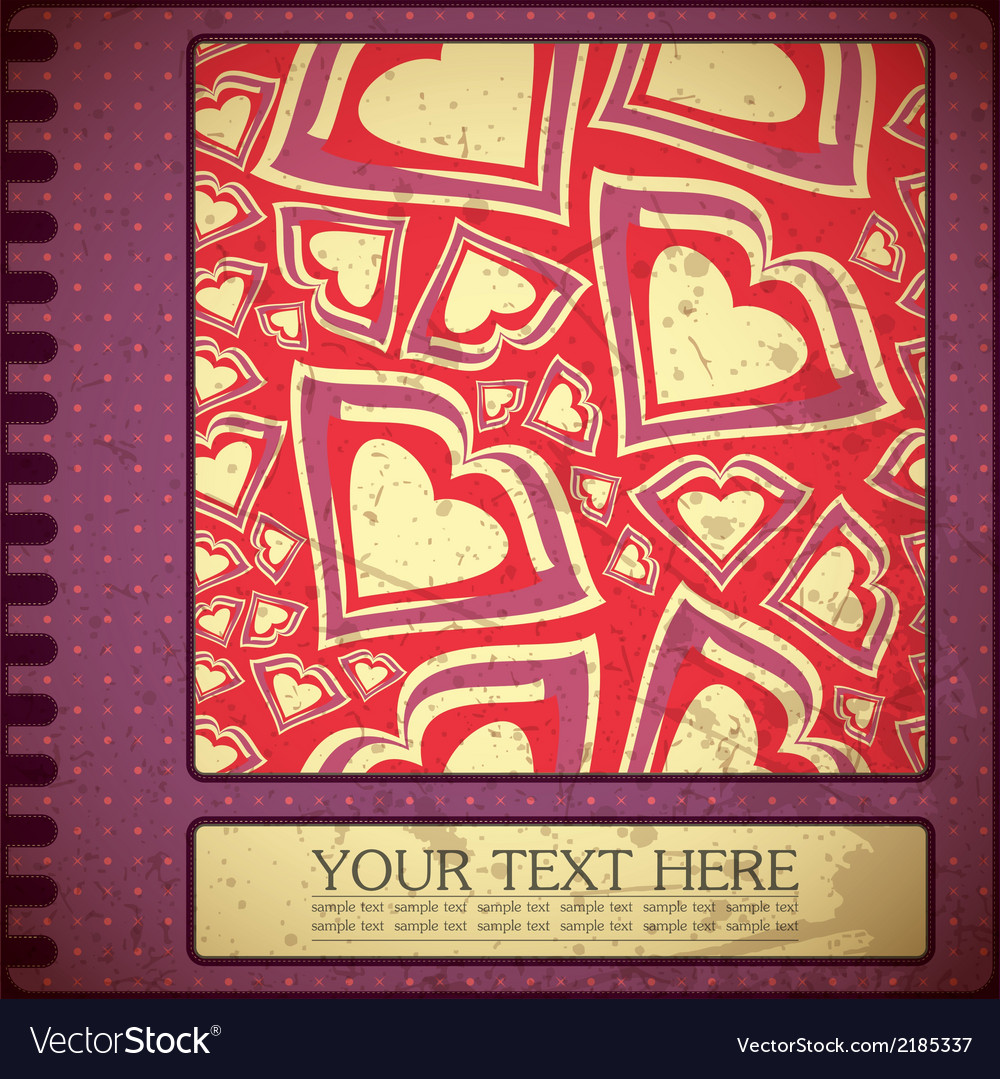 Grunge card with hearts vector   Price: 1 Credit (USD $1)