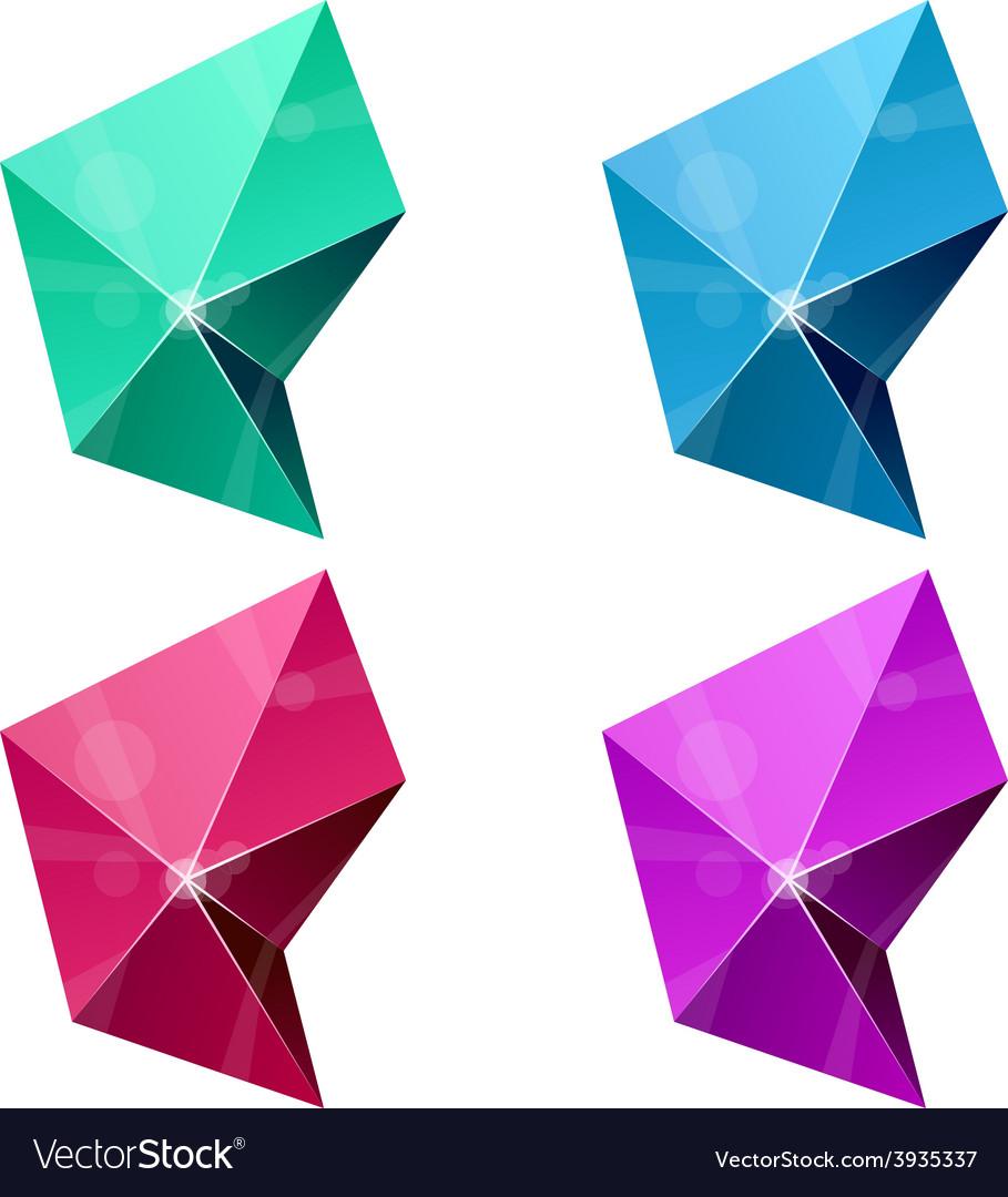 Hexagonal vibrant pyramid vector   Price: 1 Credit (USD $1)
