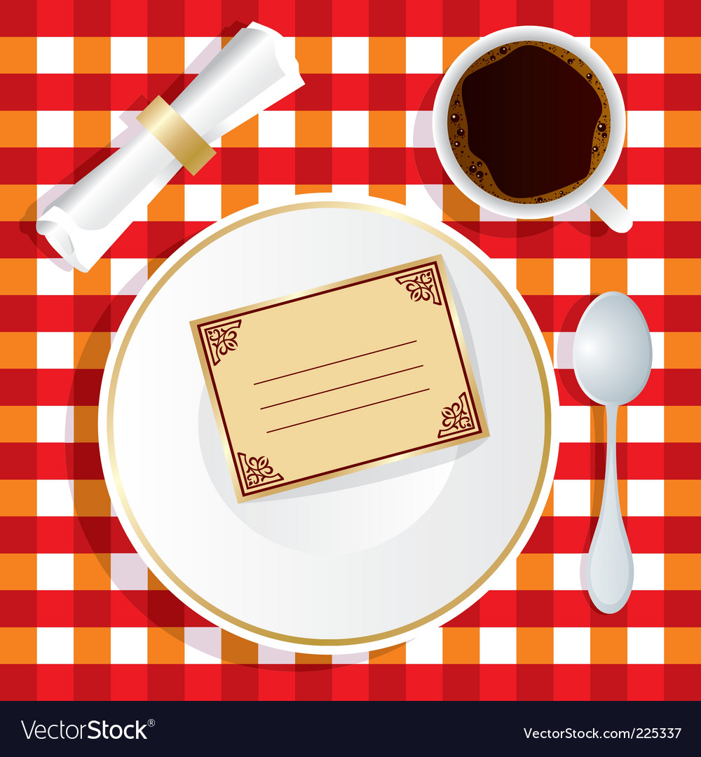 Invitation to lunch vector | Price: 1 Credit (USD $1)