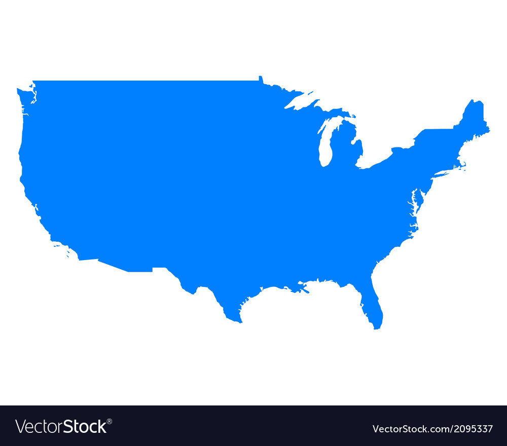 Map of usa vector | Price: 1 Credit (USD $1)