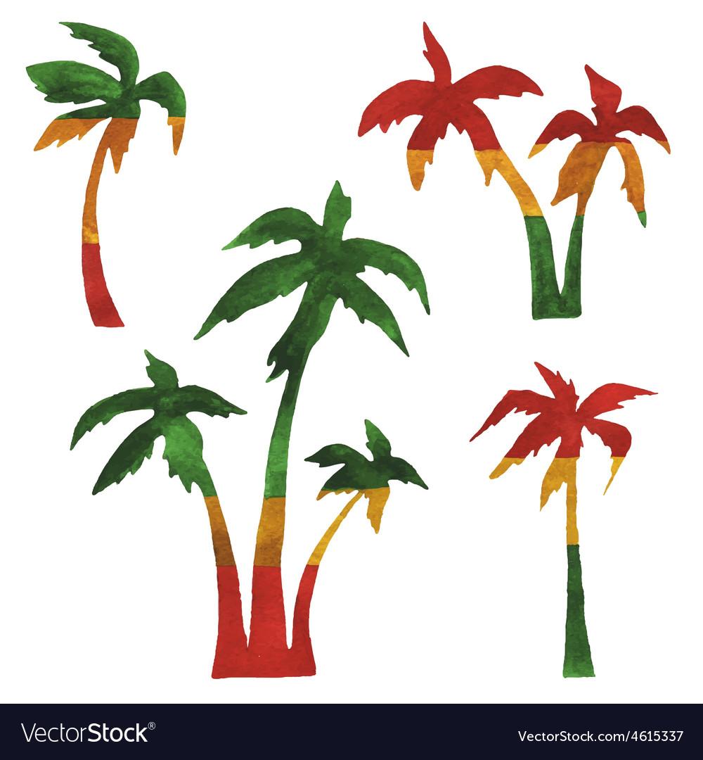 Rasta palms vector | Price: 1 Credit (USD $1)