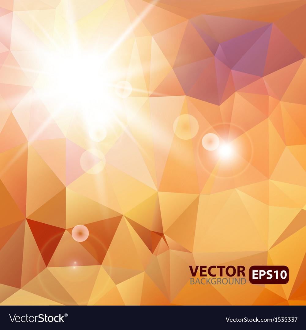 Retro triangle background with sunburst flare vector | Price: 1 Credit (USD $1)