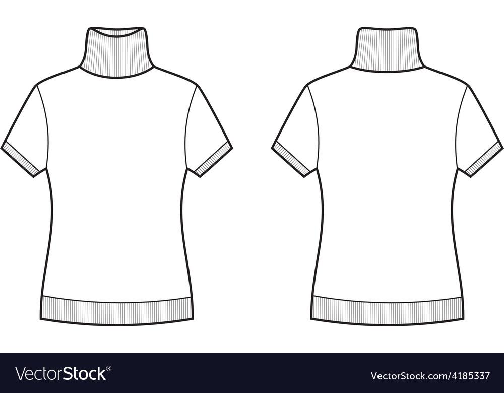 Short-sleeve turtleneck vector | Price: 1 Credit (USD $1)