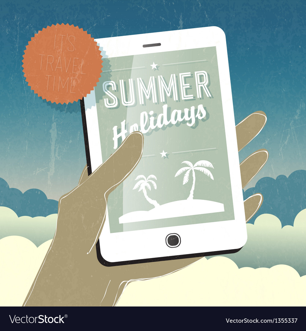 Summer holidays concept vector | Price: 1 Credit (USD $1)
