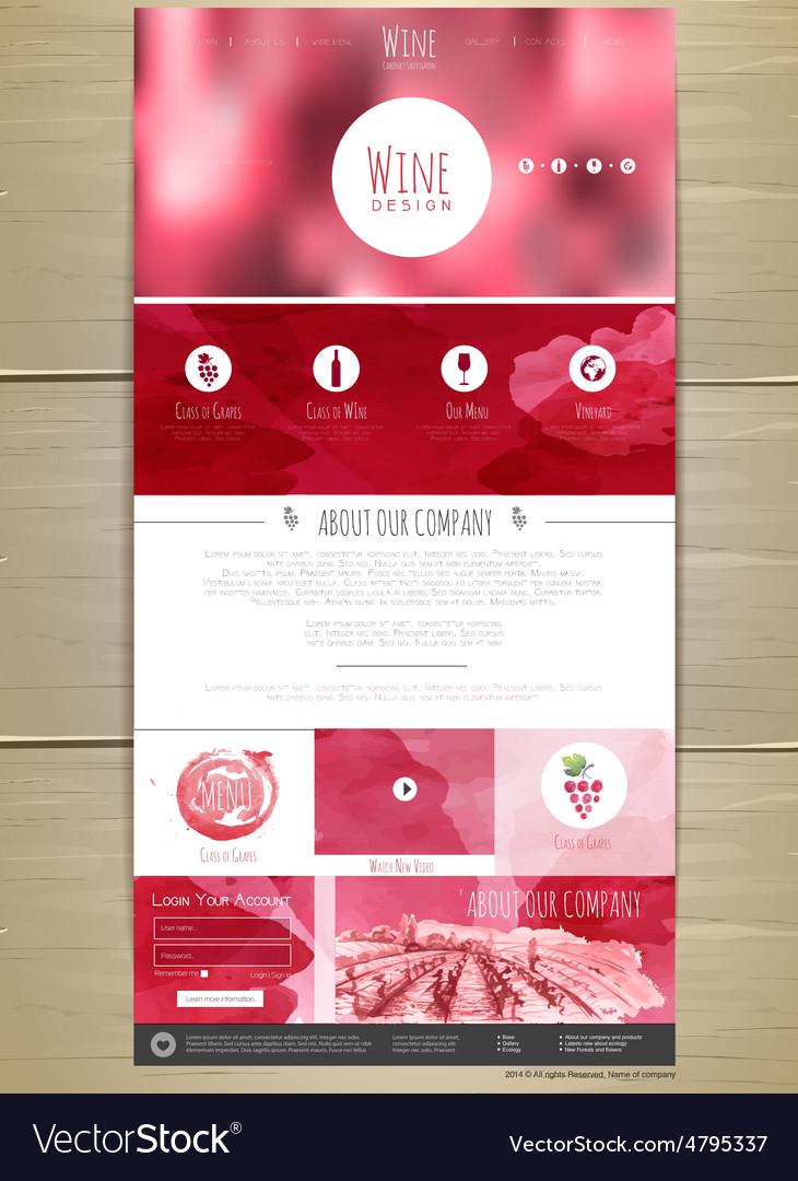 Wine concept web site design vector   Price: 1 Credit (USD $1)